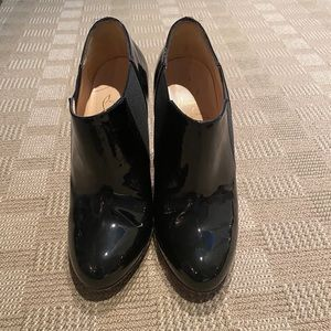 Christian Louboutin Patent Leather Ankle Booties